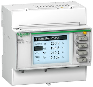schneider electric Kombinationsinstrument pm3200, din-montage