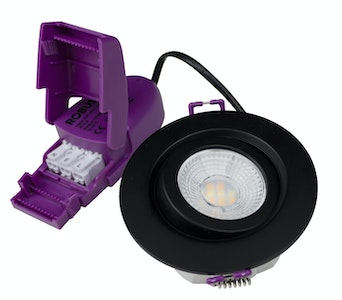 robus Downlight suunatav gem 6w ip65 4cct dim must
