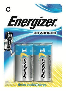 energizer Batteri alkaliskt advanced c/e93 2p
