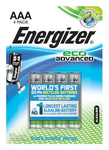 energizer Batteri alkaliskt eco advanced aaa/e92 4p